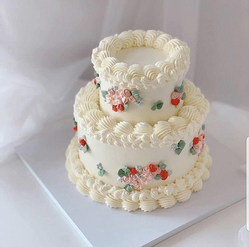 bánh kem cưới 2 tầng của Vanbakehouse.com